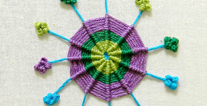 The Common Cold Virus Embroidery Hoop Art
